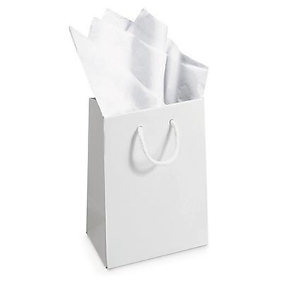 Biely a hnedý hodvábny papier