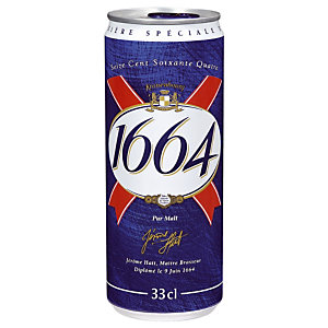 Bière 1664, en canette, lot de 24 x 33 cl