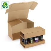 Bierflaschenverpackung mit Kartoneinlage