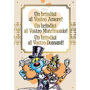 Biglietto Auguri, Lupo alberto, Matrimonio, 12 x 18 cm