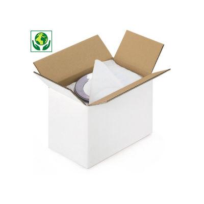 Bílé klopové krabice z pětivrstvé vlnité lepenky