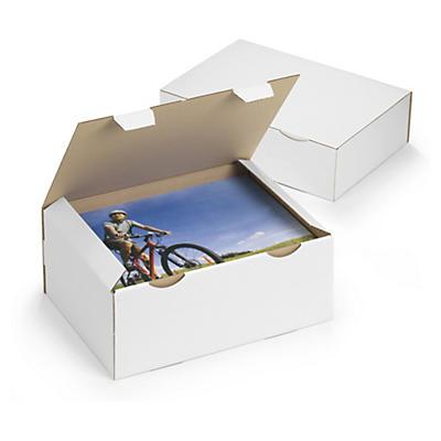 Bílé poštovní krabice RAJAPOST, A5, A6, A7