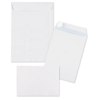 Bílé zásilkové obálky samolepicí s krycím proužkem