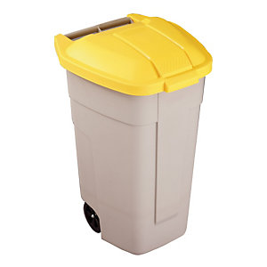 Binnencontainer 100L Rubbermaid beige/ geel