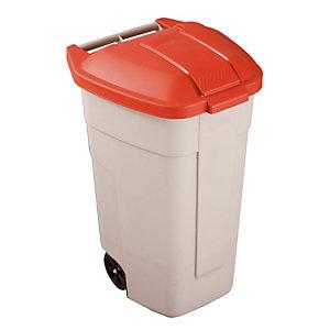 Binnencontainer 100L Rubbermaid beige/ rood