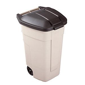 Binnencontainer 100L Rubbermaid beige/ zwart