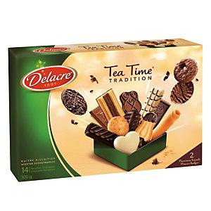 Biscuits Delacre Tea Time, assortiment, boîte de 500 g