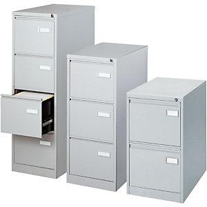 Bisley Classificatore in metallo, 2 cassetti, 47 x 62 x 71 cm, Grigio