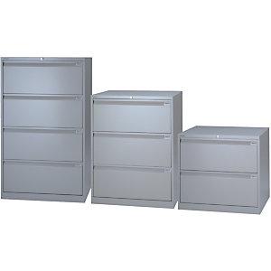 Bisley Classificatore in metallo ad alta capacità, 2 cassetti, Grigio