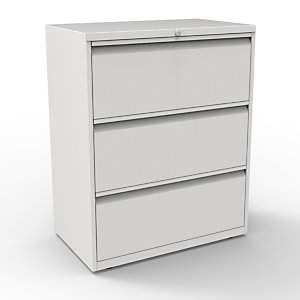 Bisley Comptoir Universal  3 tiroirs - Métal - Gris