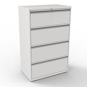 Bisley Comptoir Universal  4 tiroirs - Métal - Gris
