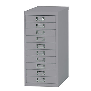 Bisley Multidrawer Cassettiera metallica, 10 cassetti, Grigio chiaro