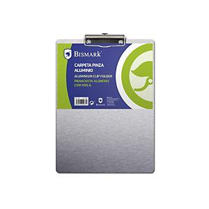 Bismark Tabla de pinza portapapeles, A4, aluminio, gris
