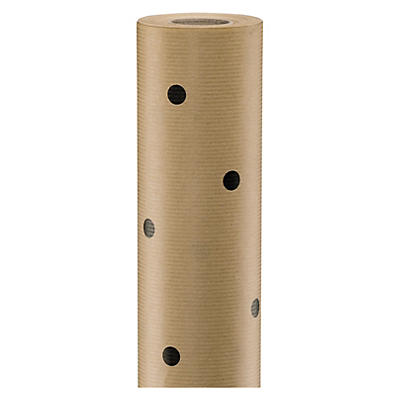 Black dots design Kraft wrapping paper