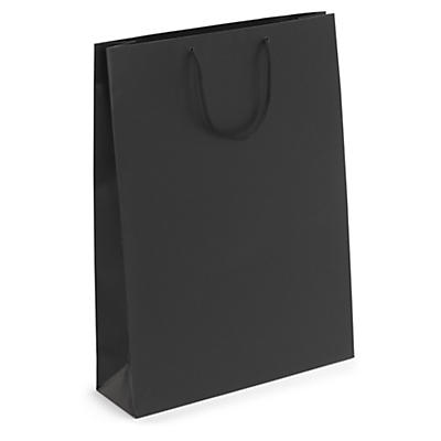 Black matt laminated gift custom printed bags