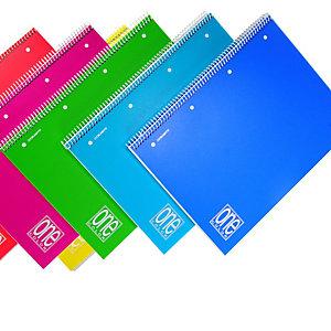BLASETTI Maxiquaderno One Color - A4 - quadretto 4mm - 80 fogli - 80gr - spiralato - copertina ppl - Blasetti