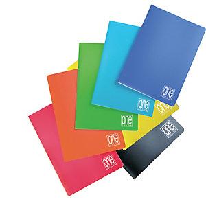 BLASETTI Maxiquaderno One Color con fori - A4 - quadretto 5mm - 20 fogli - 80gr - copertina PPL - Blasetti
