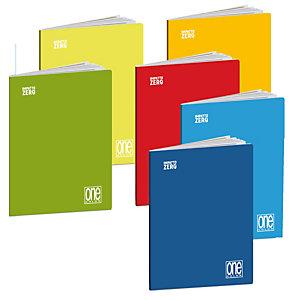 BLASETTI Maxiquaderno One Color Impatto Zero - A4 - punto metallico - 1 rigo c/margine - 20 +1 fg - 80 gr - Blasetti - expo 12 pezzi + 6 scatoline foglietti