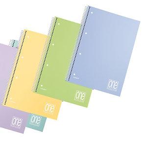 BLASETTI Maxiquaderno spiralato con fori One Color Pastel - A4 - 1 rigo - 80 fogli - 80gr - copertina ppl - Blasetti