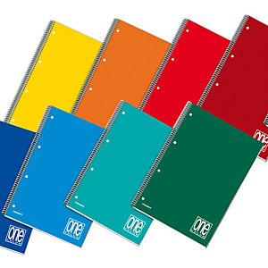 BLASETTI Quaderno One Color - A5 - quadretto 5mm - 60 fogli - 80gr - 4 fori - spiralato - Blasetti