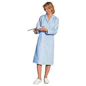 Blauwe damesschort met lange mouwen 100% katoen M44/46