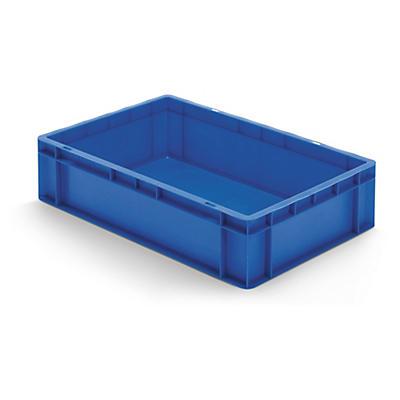 Blauwe euronorm stapelbak met gesloten wand
