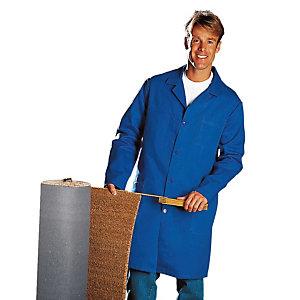 Blauwe herenschort katoen maat 60/62