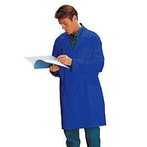 Blauwe herenschort polyester/ katoen maat 52/54