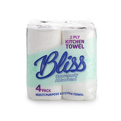 Bliss White Kitchen Towels – Pack of 4