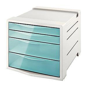 Bloc 4 tiroirs Esselte Colour'Ice coloris bleu