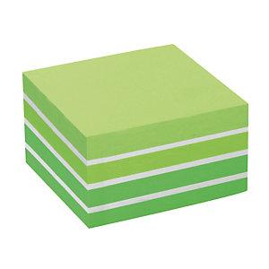 Bloc Post-it® 3 M format 76 x 76 coloris aquarelle vert