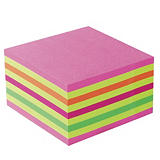 Bloc Post-it® 3 M format 76 x 76  coloris Lollipop rose##Blok Post-it® 3 M formaat 76 x 76 kleur Lollipop roze