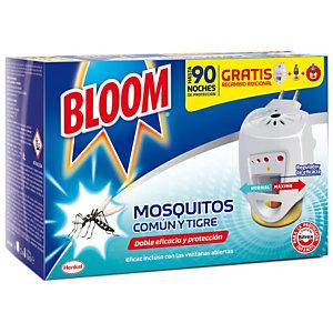 Bloom Doble Eficacia Insecticida Eléctrico Líquido contra Mosquitos Común y Tigre, difusor + 2 recambios