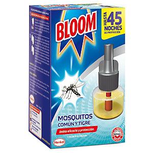 Bloom Doble Eficacia Insecticida Eléctrico Líquido contra Mosquitos Común y Tigre, recambio