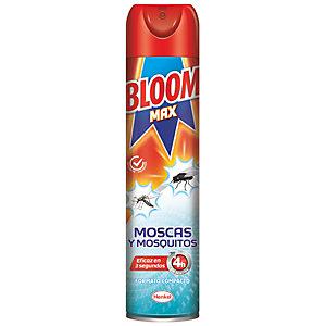 Bloom Max 4h Spray Insecticida contra Moscas, Mosquitos e Insectos Voladores, 400 ml
