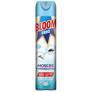 Bloom Zero Spray Insecticida contra Moscas y Mosquitos, 400 ml