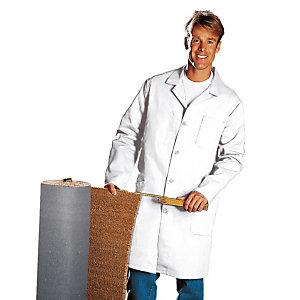 Blouse homme manches longues 100% coton blanc, taille 60 / 62