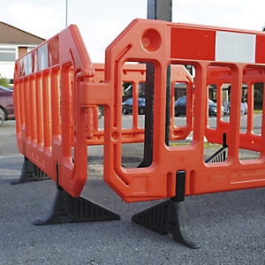 Blow-moulded barriers are great for crowd control and high-vis