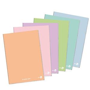 BM Maxiquaderno Be More Light Pastel - A4 - 80gr - 80 fogli+R - 1 rigo con margine - colori assortiti - BM