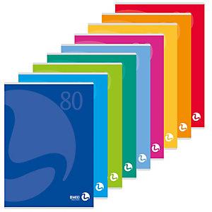 BM Maxiquaderno Color 80 - A4 - quadretto 4mm con margine - 80 fogli - 80gr - copertina 250gr - BM
