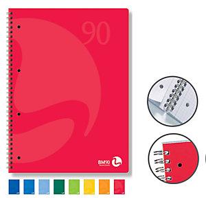 BM Quaderno Colors - A5 - 1 rigo - 60 fogli - 90gr - 4 fori microperforato - spiralato - BM