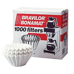 Boîtes de 1000 filtres en papier Bravilor Blanc