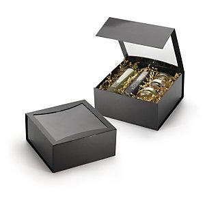 Boîte cadeau pelliculée vitrine avec fermeture aimantée