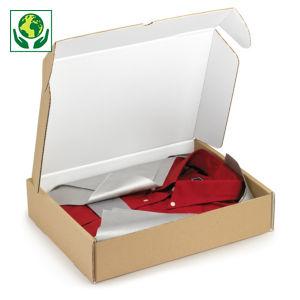 Boîte carton avec fermeture latérale intérieur blanc