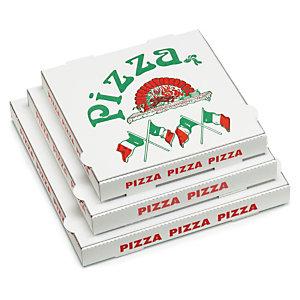 Boîte carton pizza impression Napoli