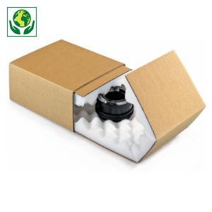 Boîte fourreau brune avec calage mousse RAJA