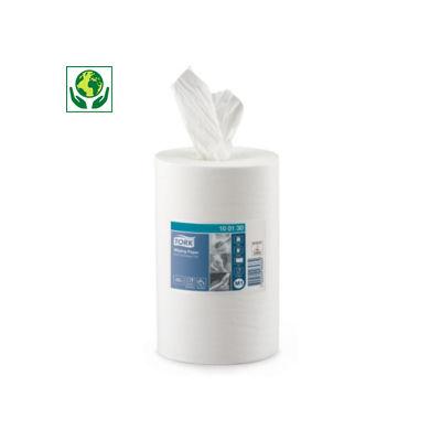 Bobine de chiffon d'essuyage blanche à dévidage central TORK®