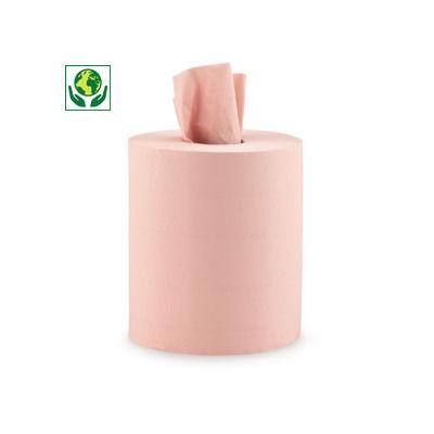 Bobine d'essuyage chamois 450 formats##Oranje schoonmaakpapier op rol