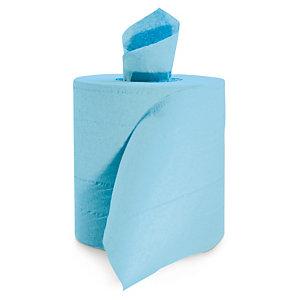 Bobine d'essuyage à dévidage central maxi bleue