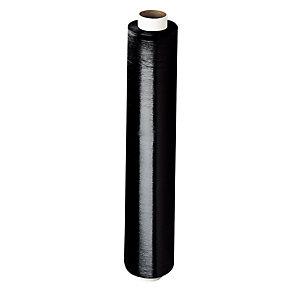Bobine de film emballage étirable manuel cast - 45 cm x 300 m - Epaisseur 17 microns - Noir (Lot de 6)